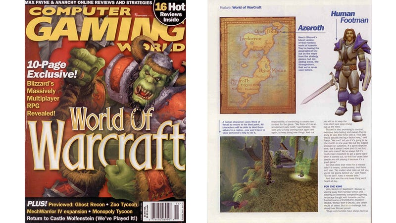 Illustration for article titled World of Warcraft's 2001 Reveal Feels Like a Different Age