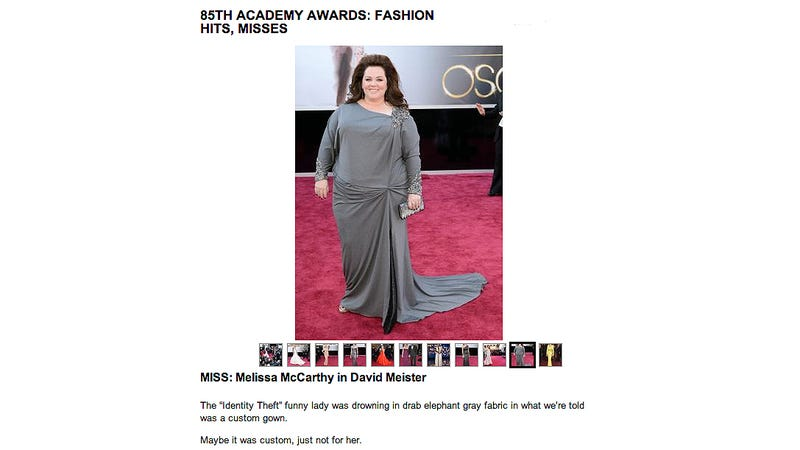 Illustration for article titled Fashion Writer Compares Melissa McCarthy to an Elephant