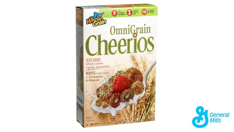 Illustration for article titled New OmniGrain Cheerios Made With Every Existing Grain On Earth