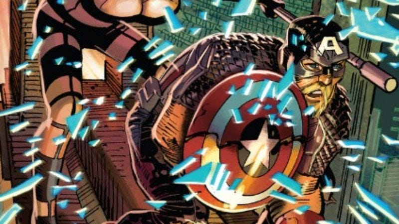 Illustration for article titled Rick Remender's Captain America #10 concludes an outstanding sci-fi arc