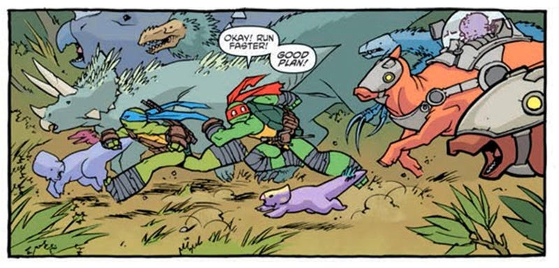 Illustration for article titled Ninja Turtles Serves Up The Most Accurate Dinosaurs in Comics