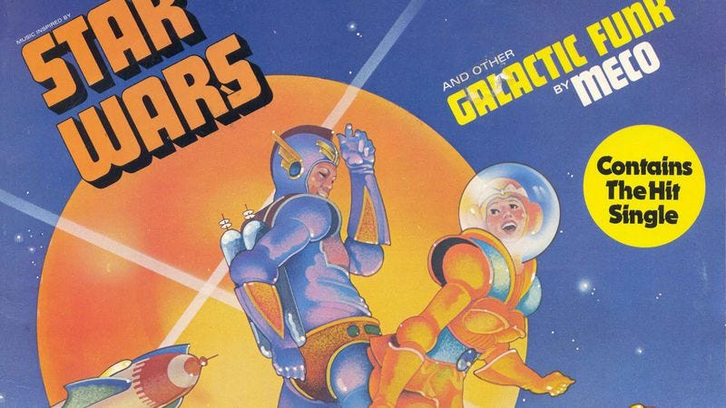 """Illustration for article titled Star Warsgoes disco and other crassly commercial hits of the """"Medley Age"""""""