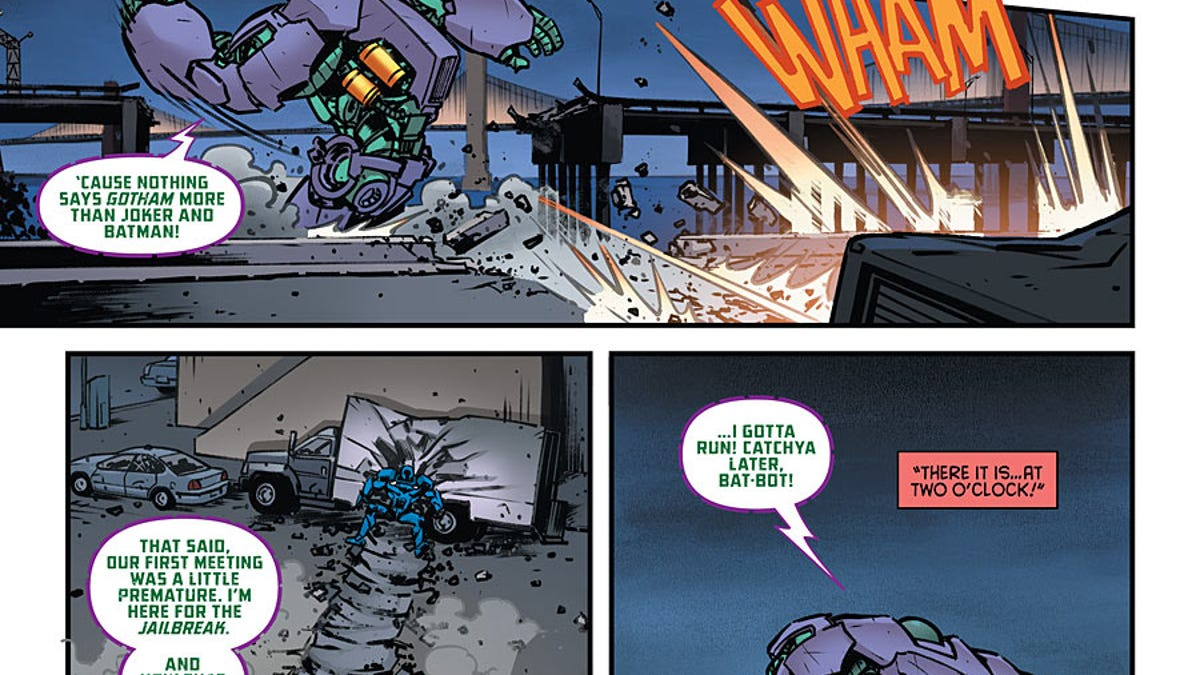 The New Mecha-Batman Now Has A Mecha-Joker To Fight