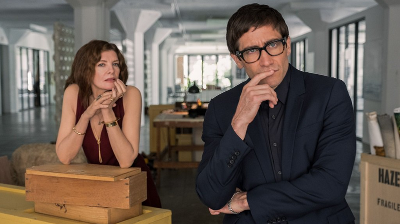 Jake Gyllenhaal and Rene Russo in Velvet Buzzsaw.