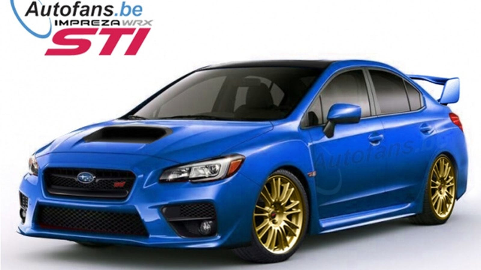 2015 subaru wrx sti its giant wing to debut in detroit. Black Bedroom Furniture Sets. Home Design Ideas