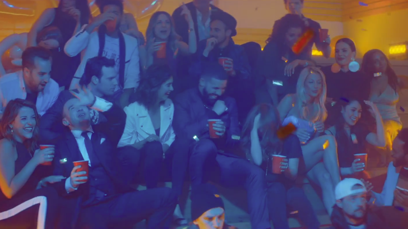 Illustration for article titled Drake staged a sex-and-puke-filled Degrassi reunion for his latest Scorpionvideo