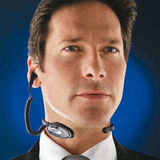 Illustration for article titled Neck-Mounted Bluetooth Headset Won't Make You A Beauty Pageant Winner