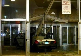 "Illustration for article titled Detroit Taxi Numbered ""666"" Crashes Into Cobo Hall, Second Carpocalypse Nigh?"