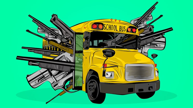 Illustration for article titled What Do I Do With My Dead Father-In-Law's School Bus Full Of Guns?
