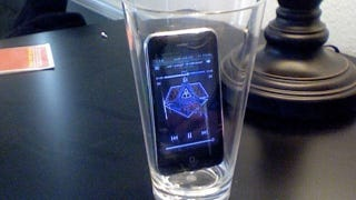 Illustration for article titled Put Your Phone in a Drinking Glass to Boost Its Alarm Volume and Avoid Oversleeping