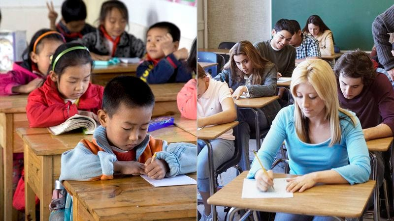 Experts say the average Chinese third-grader is now, alarmingly, barely able to compete with a U.S. high school senior.