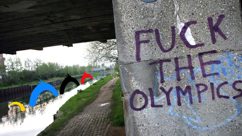 Illustration for article titled Is A Monster Stalking The River Outside London's Olympic Stadium? An Investigation