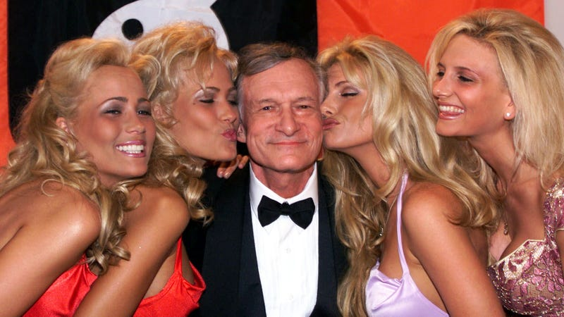 Hugh Hefner, 1999. Image via the AP.