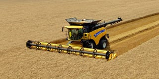 Illustration for article titled The World's Most Badass Combine Harvester Will Shuck Your Mind