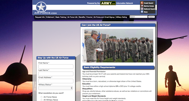 Air force leave web website