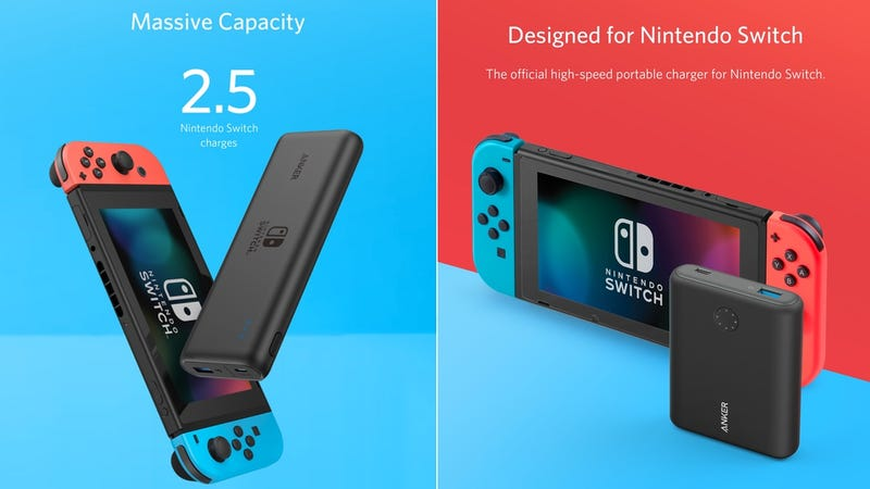 Preorder Anker PowerCore 13400 Nintendo Switch Edition | $70 | AnkerPreorder Anker PowerCore 20100 Nintendo Switch Edition | $90 | Anker