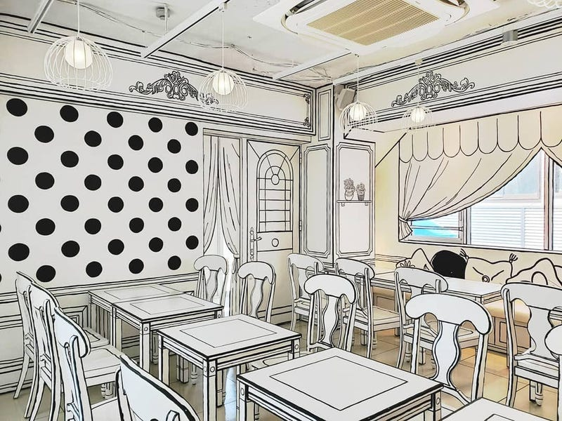 2D Cafe Looks Like A Manga Drawing