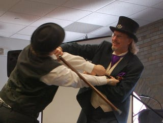 Illustration for article titled Bartitsu: the steampunk martial art