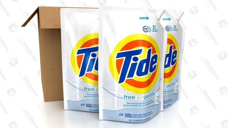 93 Loads Tide Free & Gentle Laundry Detergent | $12 | Amazon