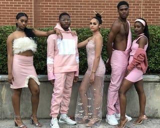 Student models for Henry W. Grady High School's 2018 Une Belle Révolution Fashion Show