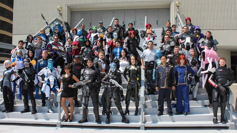 Illustration for article titled Now That's A Lot Of Mass Effect Cosplayers!