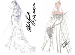Illustration for article titled Kate Middleton's Wedding Attire As Imagined By Designers Who Will Never Dress Her