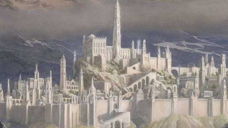 Part of the cover for Tolkien's new book, The Fall of Gondolin.