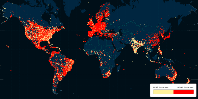 Illustration for article titled Map shows the gender breakdown of Ashley Madison users across the world