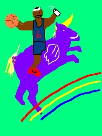 Illustration for article titled БЛЯТЬ! LEBRON TO KNICKS, SAYS...CAPITALISM
