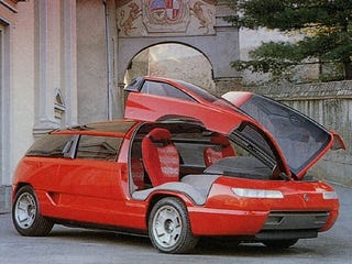 The Lamborghini-Engined Gullwing Minivan