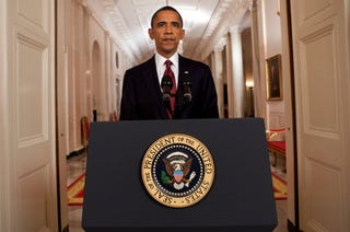 President Obama will address the nation at 8 p.m. (Getty)