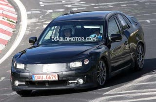 Illustration for article titled 2011 Subaru Coupe Spied On The 'Ring, Again
