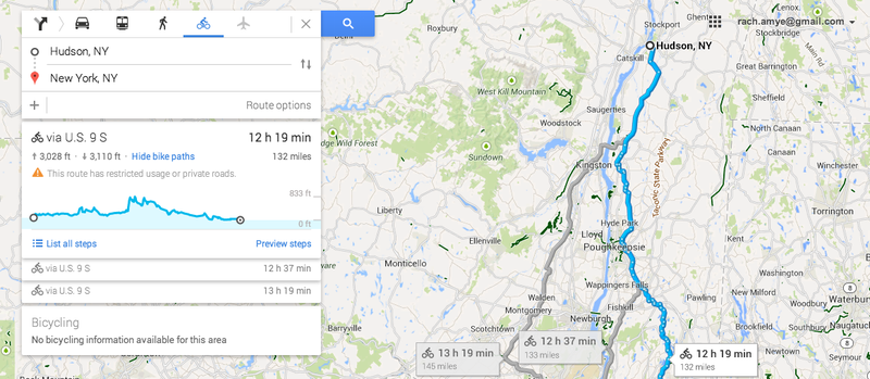 Google Maps Now Shows How Steep Your Bike Route Is - Google maps elevation layer