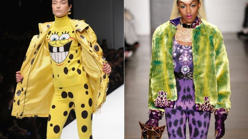 Illustration for article titled Fashion Would You Rather: Spongebob Chic vs. Power-Clashing Catwoman