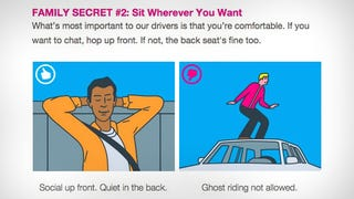 Illustration for article titled Lyft Riders: Sit in the Front to Chat, Back for Quiet