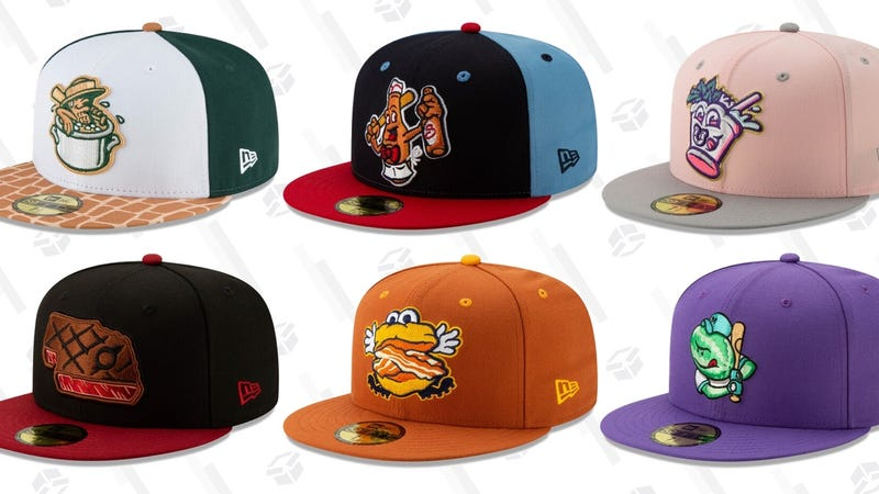 Illustration for article titled 11 More Minor League Baseball Alternate Hats That We Really Love