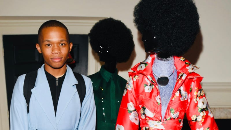 Designer Thebe Magugu attends the 'Brave New Worlds' International Showcase at Somerset House on February 11, 2019 in London, England.