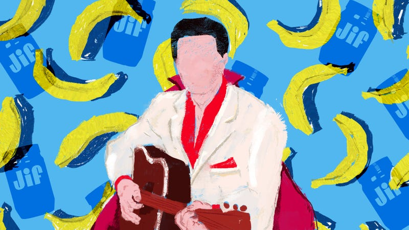 Illustration for article titled Elvis Presley's peanut butter-banana-bacon sandwich might be the greatest celebrity recipe