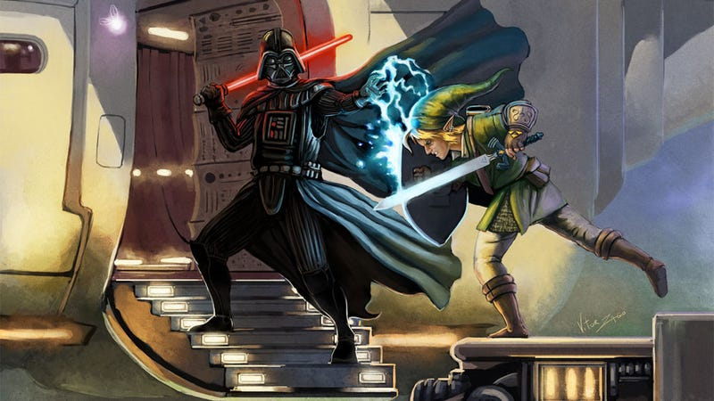Illustration for article titled The Force Versus The Triforce