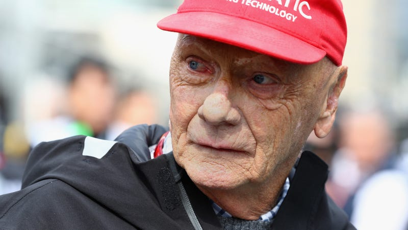 Niki Lauda at the Azerbaijan Grand Prix in April.