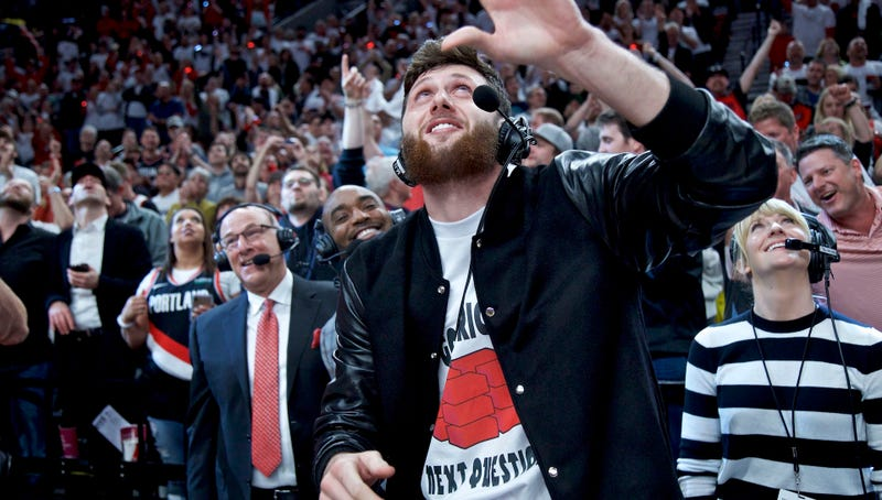 Jusuf Nurkic Hobbled Over To The Blazers' Game To Rally His Team And Roast Russell Westbrook