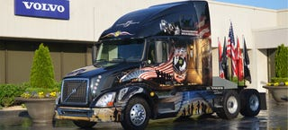 Illustration for article titled Volvo's Memorial Day Big Rig Will Go 'Murica On Your Ass