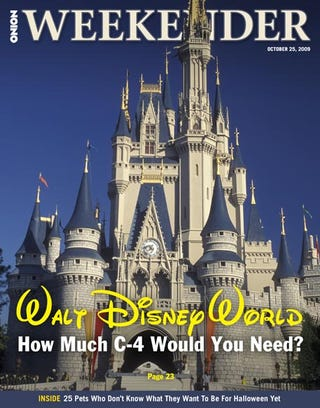 Illustration for article titled Walt Disney World: How Much C4 Would You Need?