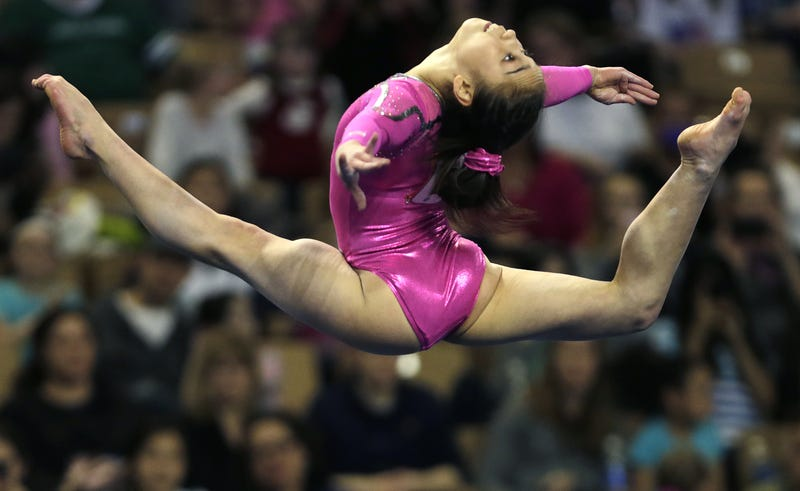 Katelyn Ohashi performs at the 2013 American Cup. Photo: Charles Krupa/AP
