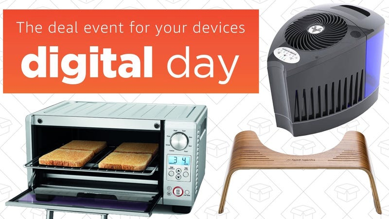 Illustration for article titled Today's Best Deals: Amazon Digital Day, Your Favorite Toaster Ovens, Humidifiers, and More