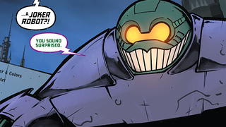 Illustration for article titled The New Mecha-Batman Now Has A Mecha-Joker To Fight