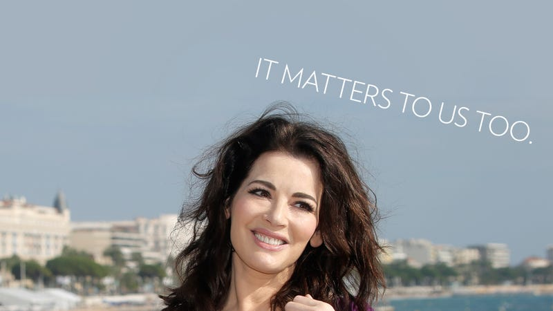Illustration for article titled No, Nigella Lawson's Public Choking Isn't a 'Private' Matter