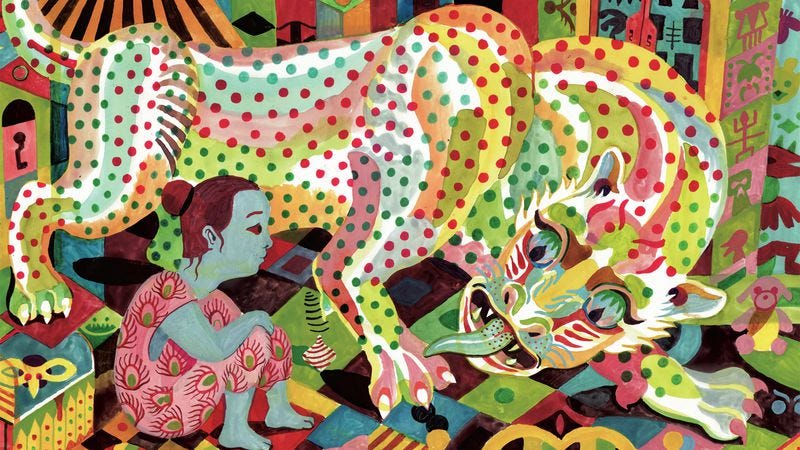 Illustration for article titled D&Q exclusive: Panther puts a chilling twist on a little girl's imaginary friend