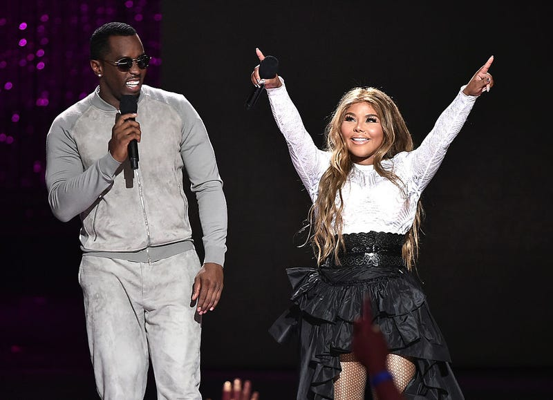 """Sean """"Diddy"""" Combs and Lil' Kim onstage for VH1 Hip-Hop Honors: All Hail the Queens at David Geffen Hall on July 11, 2016, in New York City.Theo Wargo/Getty Images for VH1"""