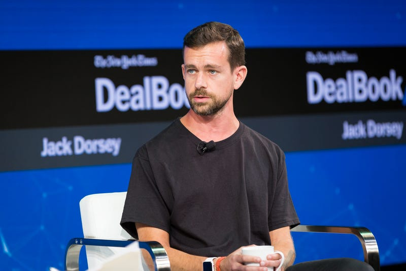 Jack Dorsey speaks during the New York Times 2017 DealBook Conference at Jazz at Lincoln Center in New York City on Nov. 9, 2017. (Michael Cohen/Getty Images for the New York Times)